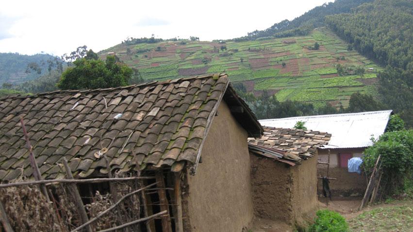Vy någonstans mellan Butare och Kigali