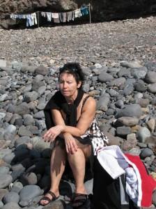 Ann på stranden